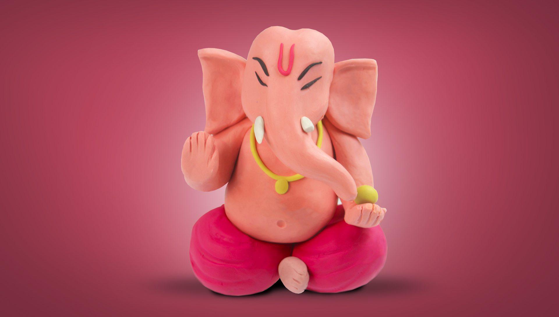 How to Make Ganesh Idol with Play Dough - Kidu Kidu