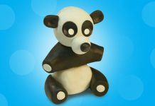 Play dough Panda
