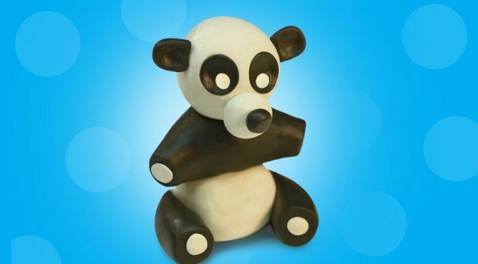 Play dough Panda