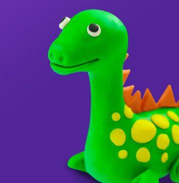 Play doh model Dinosaur