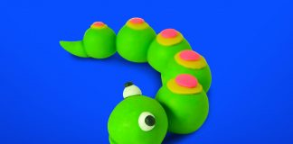 Play dough Caterpillar