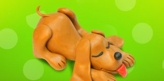 Play dough creations puppy dog